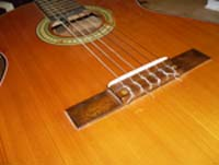 classical guitar-bridge